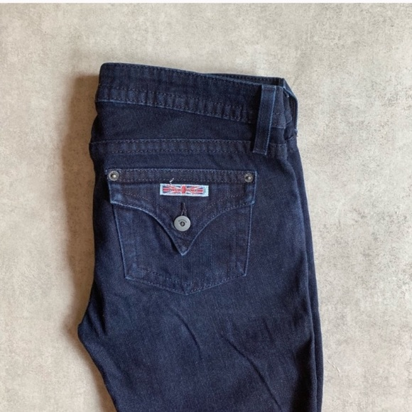 Hudson Jeans Denim - Hudson Dark Wash Skinny Jeans Short Inseam